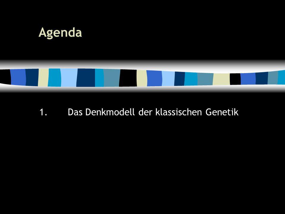 6 Agenda 1.Das Denkmodell der klassischen Genetik