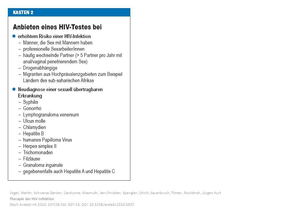 Vogel, Martin; Schwarze-Zander, Carolynne; Wasmuth, Jan-Christian; Spengler, Ulrich; Sauerbruch, Tilman; Rockstroh, Jürgen Kurt Therapie der HIV-Infek