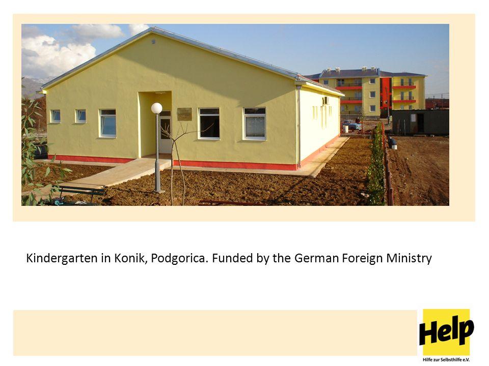 Help – Hilfe zur Selbsthilfe e.V. Kindergarten in Konik, Podgorica.