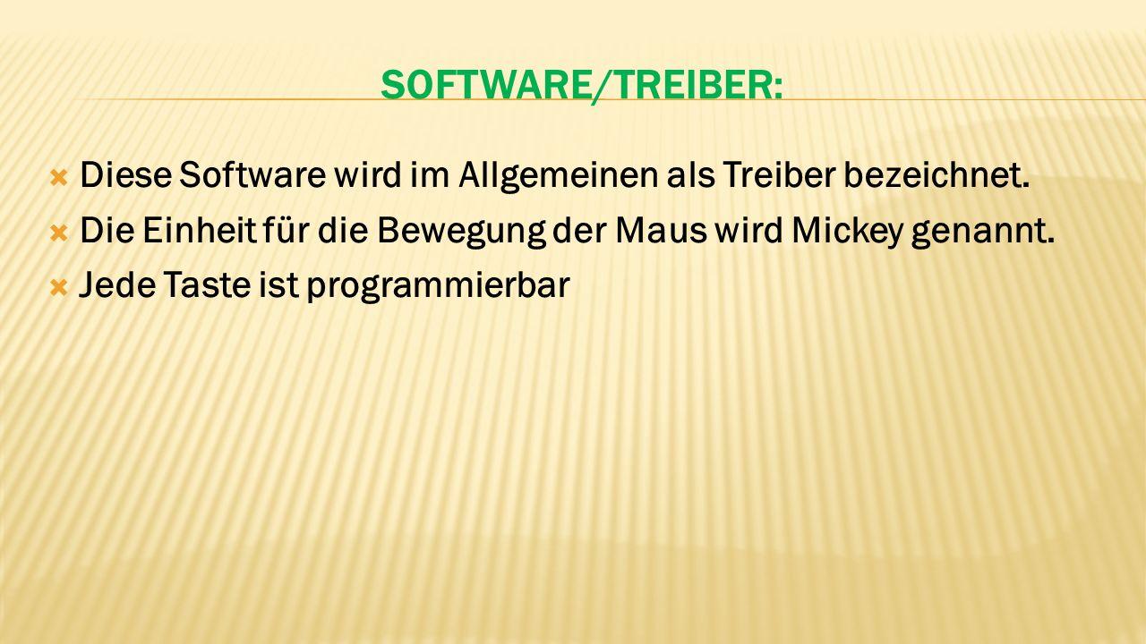 SOFTWARE/TREIBER:  Diese Software wird im Allgemeinen als Treiber bezeichnet.