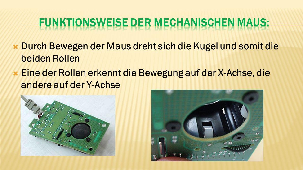 Beide Rollen sind über Achsen mit Lochscheiben verbunden  Auf einer Seite der Lochscheiben befinden sich zwei Infrarot LEDs  Zwei Infrarot Sensoren auf der anderen Seite der Lochscheiben erfassen die Lichtimpulse und geben sie als Stromimpulse weiter