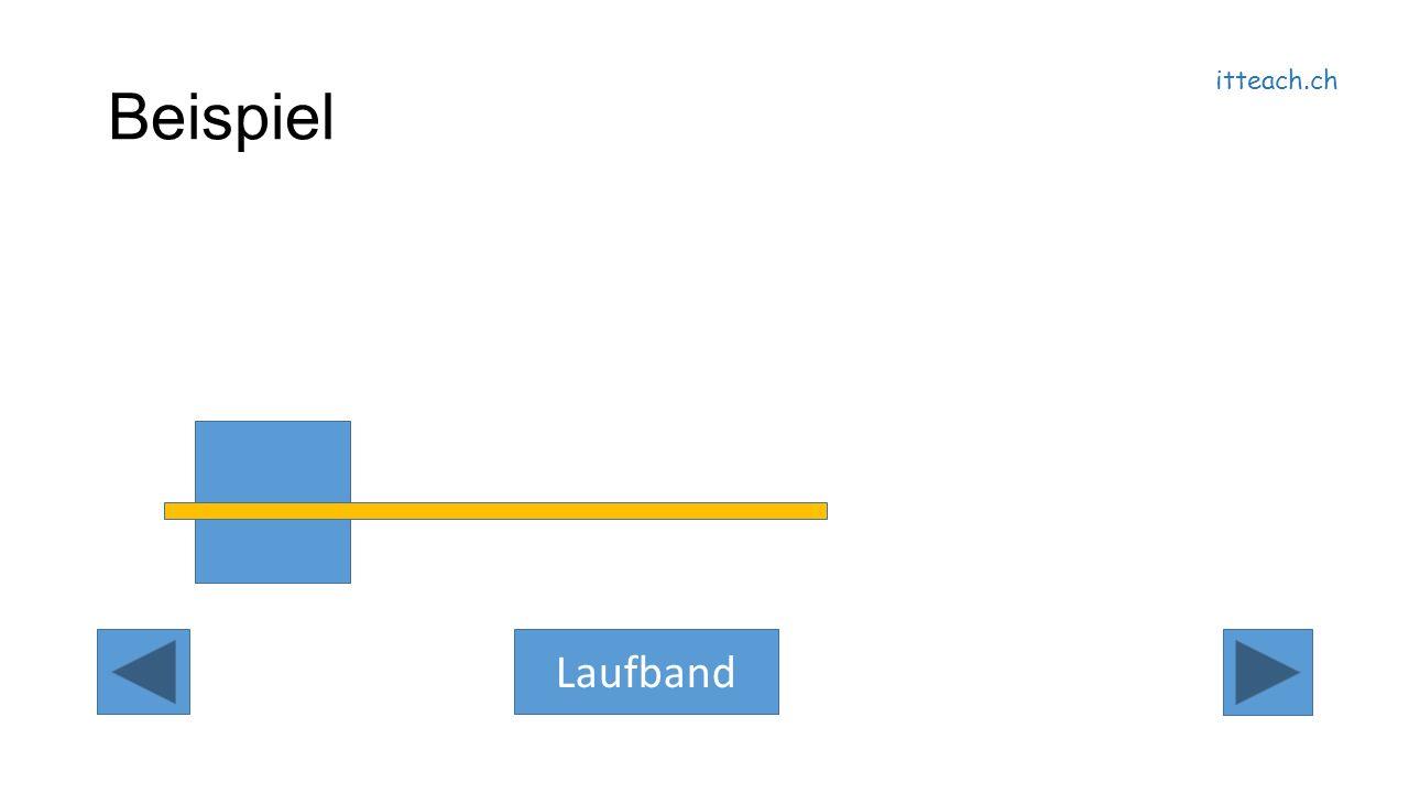 itteach.ch Beispiel Laufband