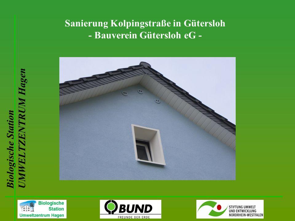 Biologische Station UMWELTZENTRUM Hagen Sanierung Kolpingstraße in Gütersloh - Bauverein Gütersloh eG -
