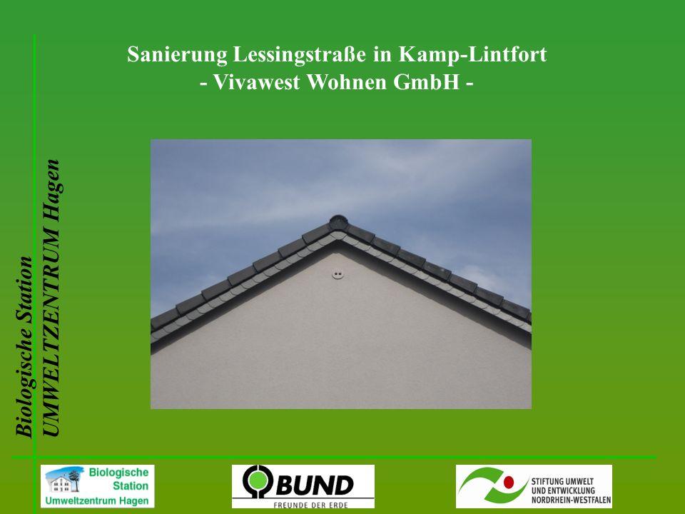 Biologische Station UMWELTZENTRUM Hagen Sanierung Lessingstraße in Kamp-Lintfort - Vivawest Wohnen GmbH -