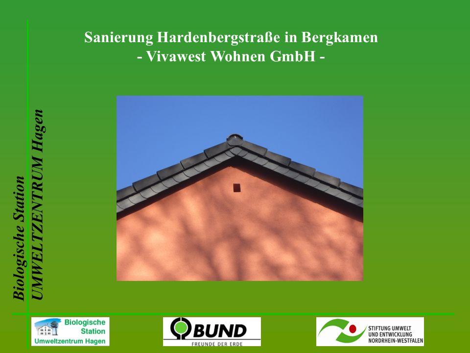 Biologische Station UMWELTZENTRUM Hagen Sanierung Hardenbergstraße in Bergkamen - Vivawest Wohnen GmbH -