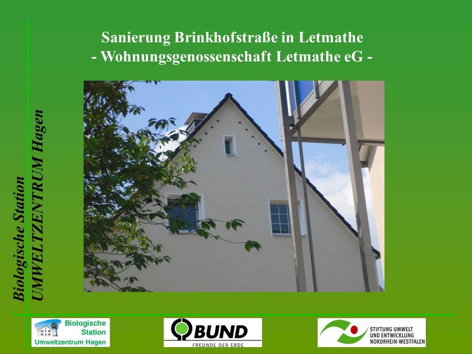 Biologische Station UMWELTZENTRUM Hagen Sanierung Brinkhofstraße in Letmathe - Wohnungsgenossenschaft Letmathe eG -