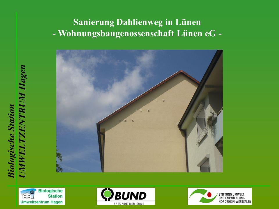Biologische Station UMWELTZENTRUM Hagen Sanierung Dahlienweg in Lünen - Wohnungsbaugenossenschaft Lünen eG -
