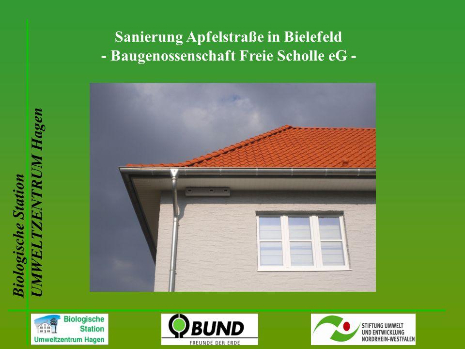 Biologische Station UMWELTZENTRUM Hagen Sanierung Apfelstraße in Bielefeld - Baugenossenschaft Freie Scholle eG -