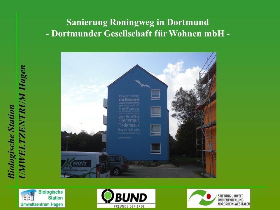 Biologische Station UMWELTZENTRUM Hagen Sanierung Roningweg in Dortmund - Dortmunder Gesellschaft für Wohnen mbH -