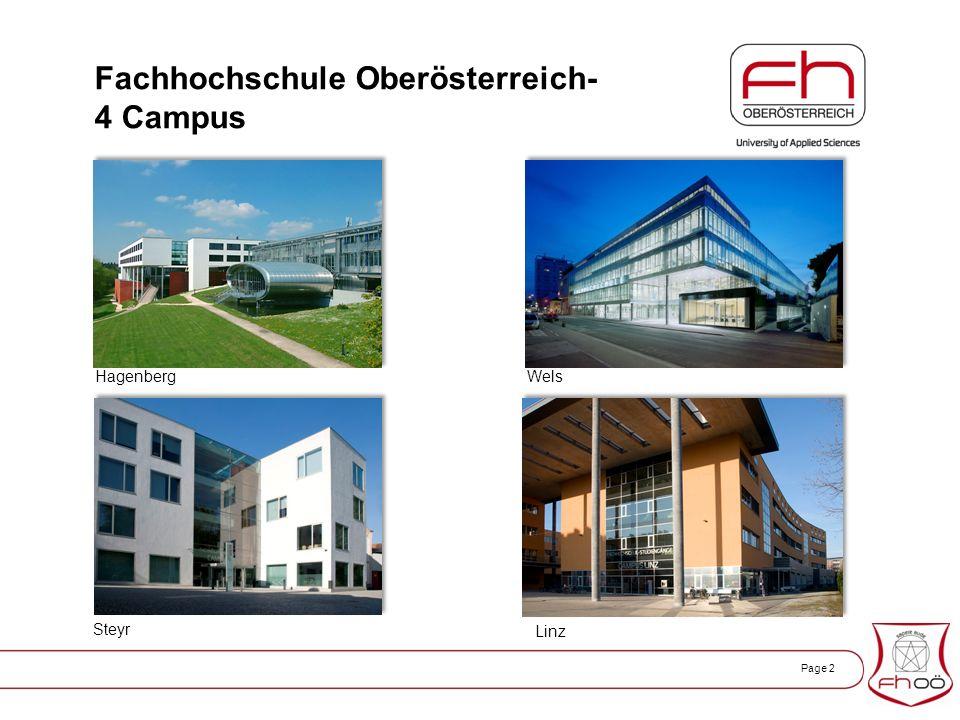Page 2 Fachhochschule Oberösterreich- 4 Campus WelsHagenberg Steyr Linz
