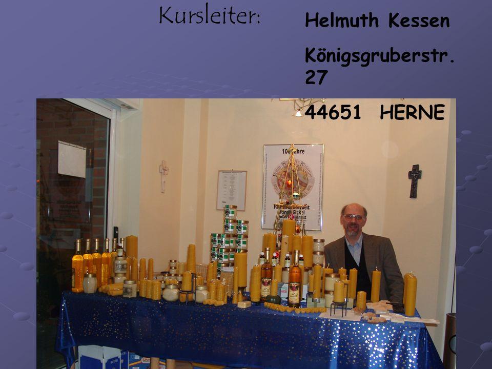 Copyright Helmuth Kessen VHS Kurs Herne 2004 Kursleiter: Helmuth Kessen Königsgruberstr.