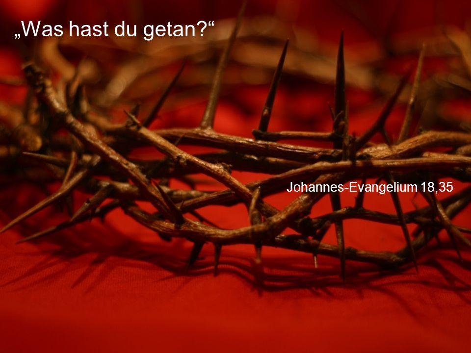 "Johannes-Evangelium 18,35 ""Was hast du getan?"