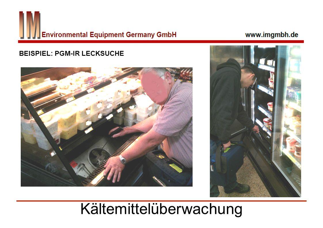 Kältemittelüberwachung BEISPIEL: PGM-IR LECKSUCHE