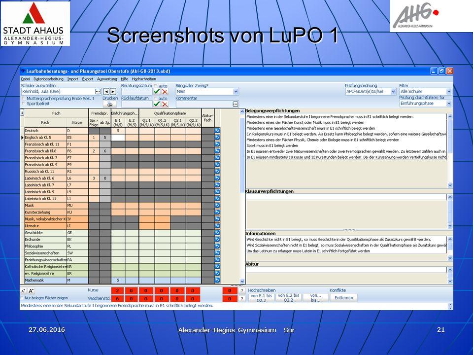 27.06.2016 Alexander-Hegius-Gymnasium Sür 21 Screenshots von LuPO 1