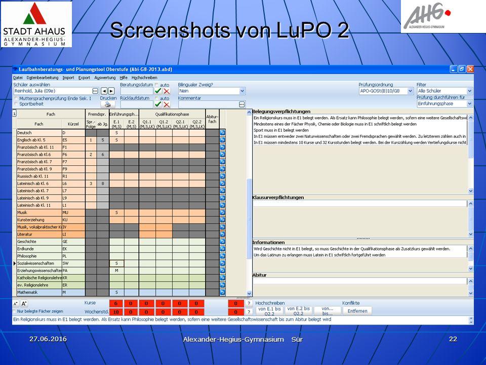 27.06.2016 Alexander-Hegius-Gymnasium Sür 22 Screenshots von LuPO 2