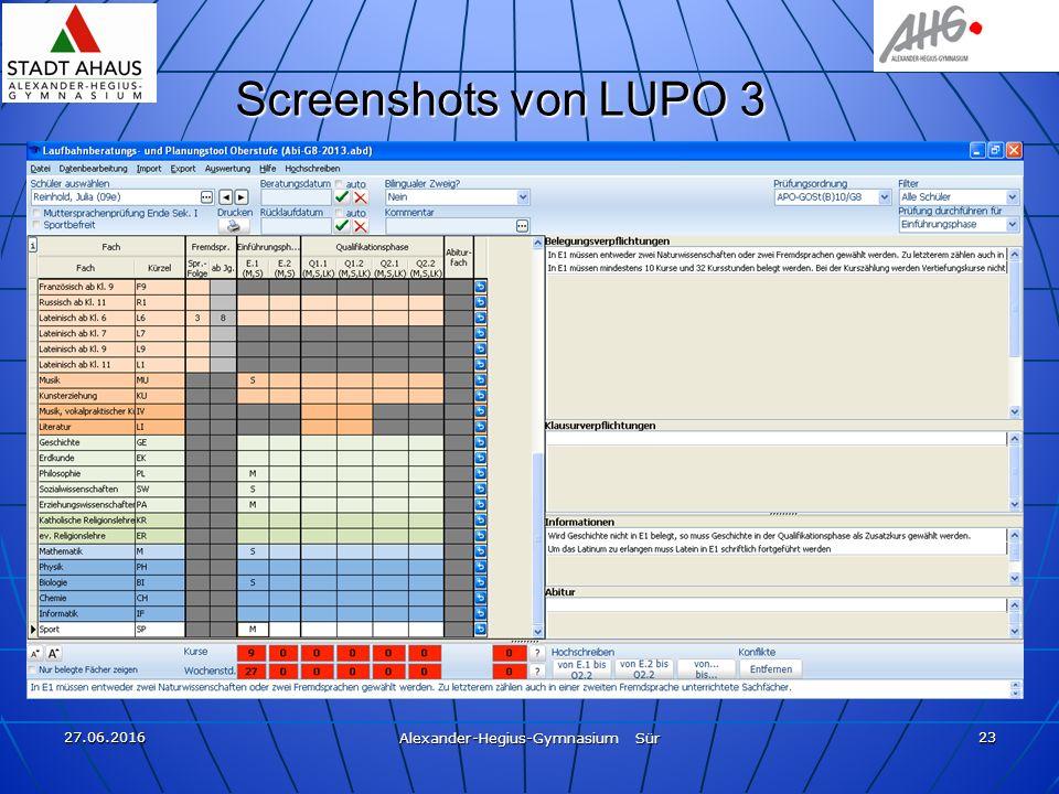 27.06.2016 Alexander-Hegius-Gymnasium Sür 23 Screenshots von LUPO 3