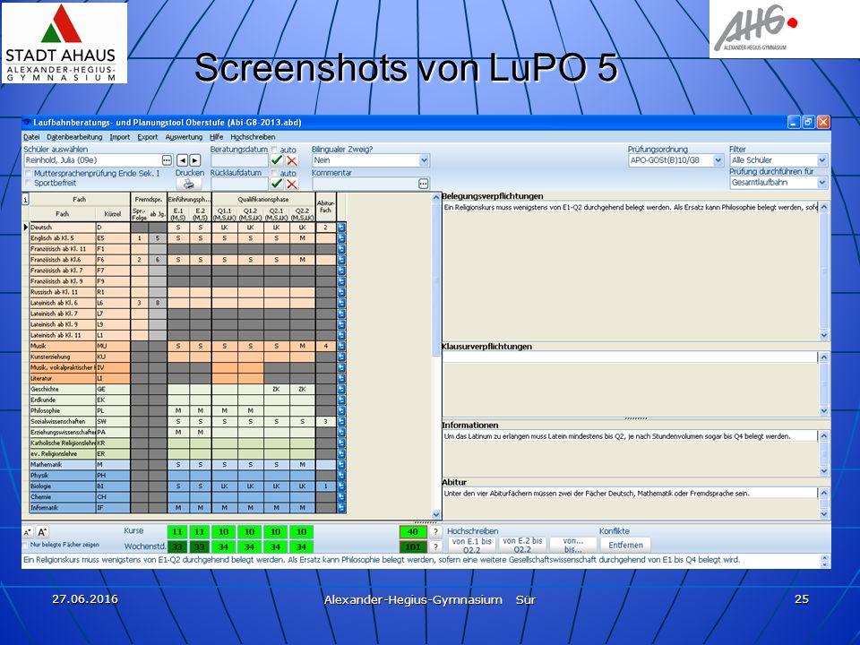 27.06.2016 Alexander-Hegius-Gymnasium Sür 25 Screenshots von LuPO 5