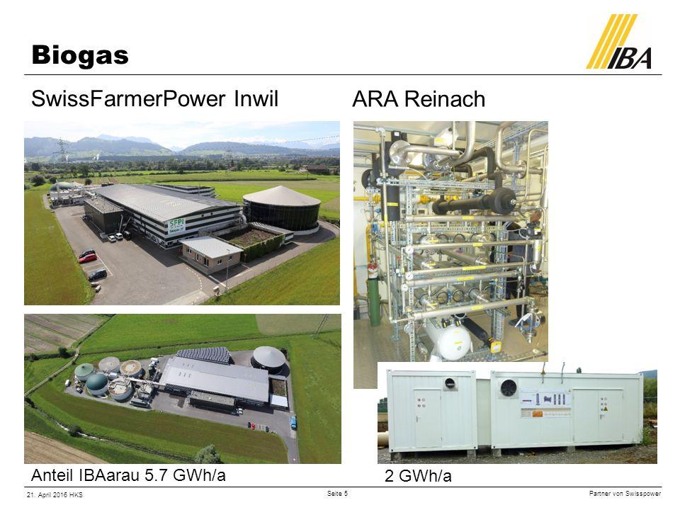 Partner von Swisspower 21. April 2016 HKS Seite 6 H2 Energy Elektrolyseur