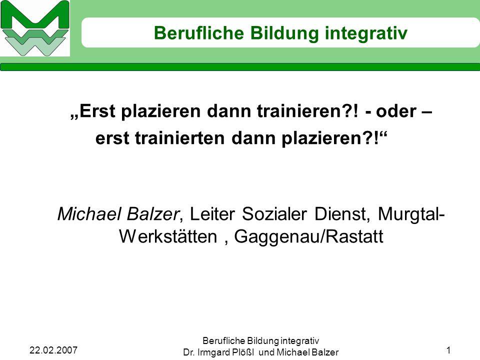 Berufliche Bildung integrativ Dr.