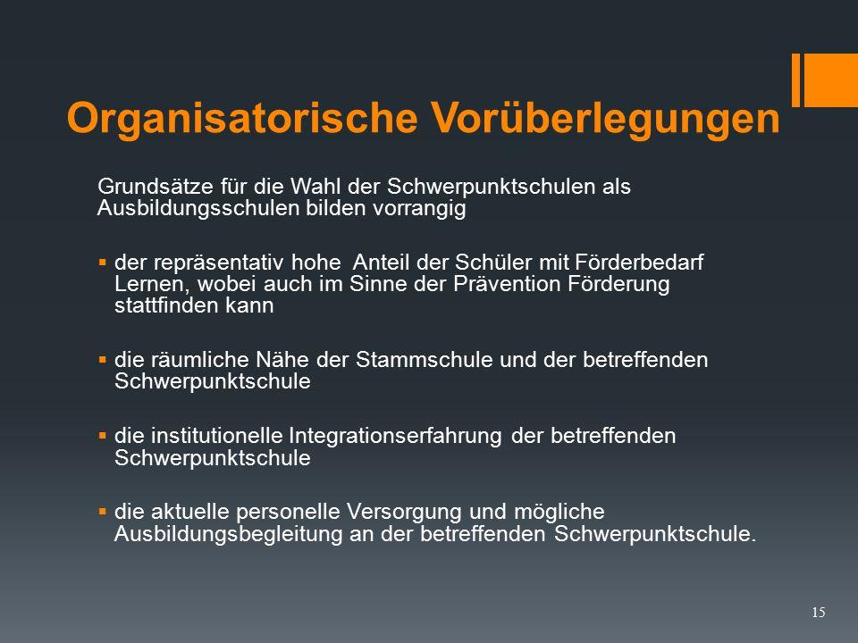Ausbildung in Schwerpunktschulen LVO §9 Abs.