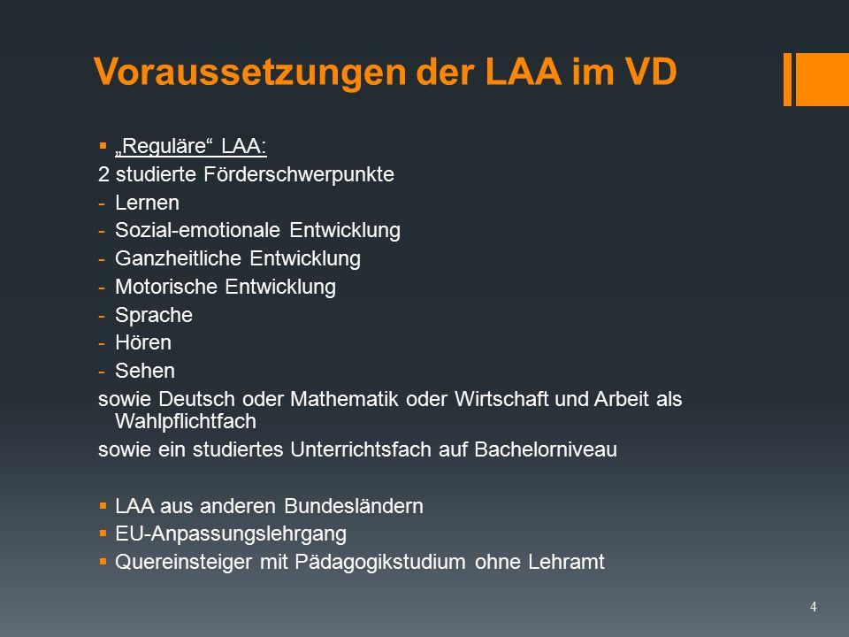 Gemeinsame Zielvorgabe (LVO §1, Abs.