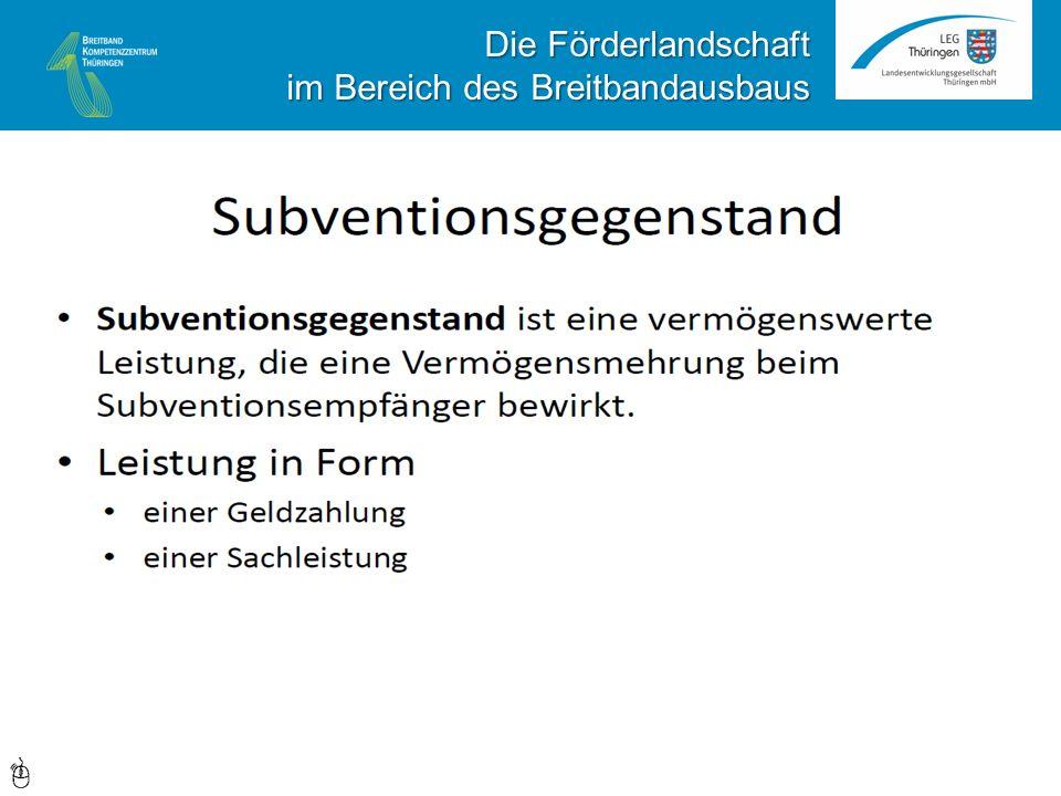 Daher müssen ALLE Leistungen des Projektträgers (Gemeinde/Landkreis) allen in Frage kommenden Interessenten diskriminierungsfrei angeboten werden.