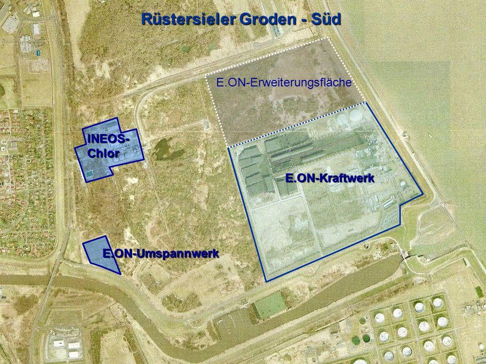 Rüstersieler Groden - Süd E.ON-Kraftwerk E.ON-Erweiterungsfläche INEOS-Chlor E.ON-Umspannwerk