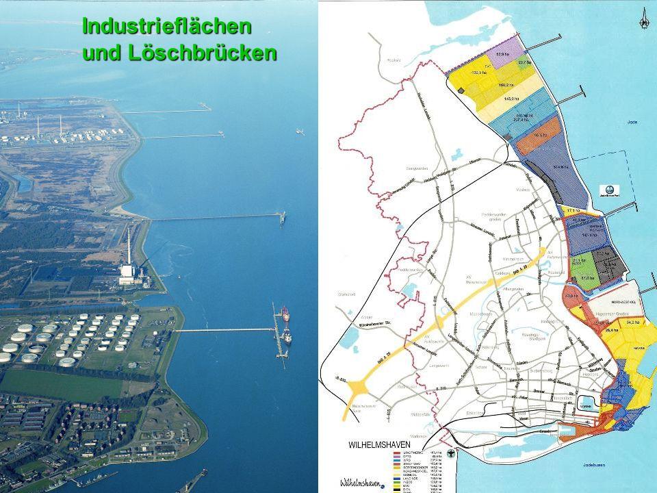 Industrieflächen und Löschbrücken