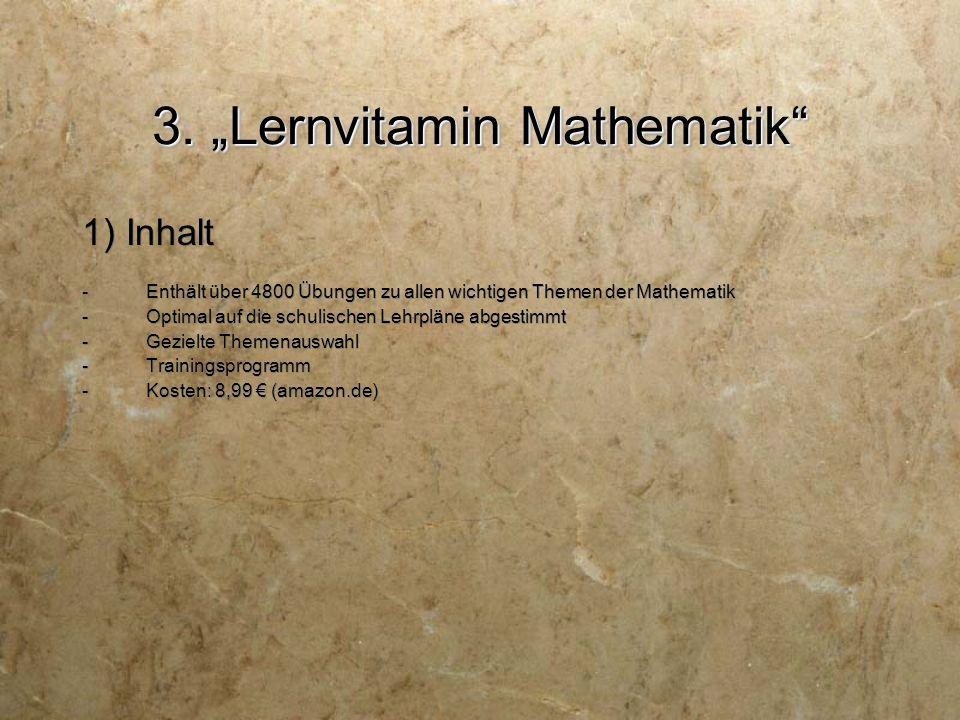 "3. ""Lernvitamin Mathematik 2) Aufbau"