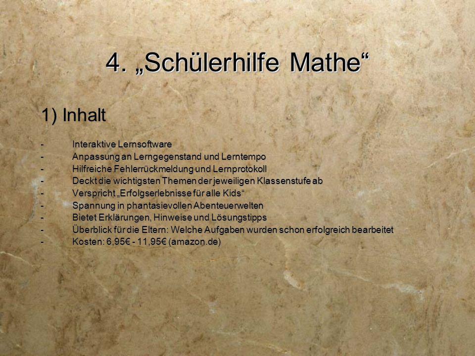 "4. ""Schülerhilfe Mathe 2) Aufbau"