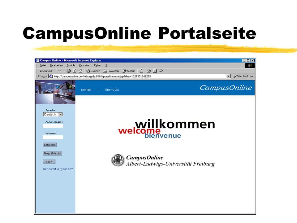 CampusOnline Portalseite