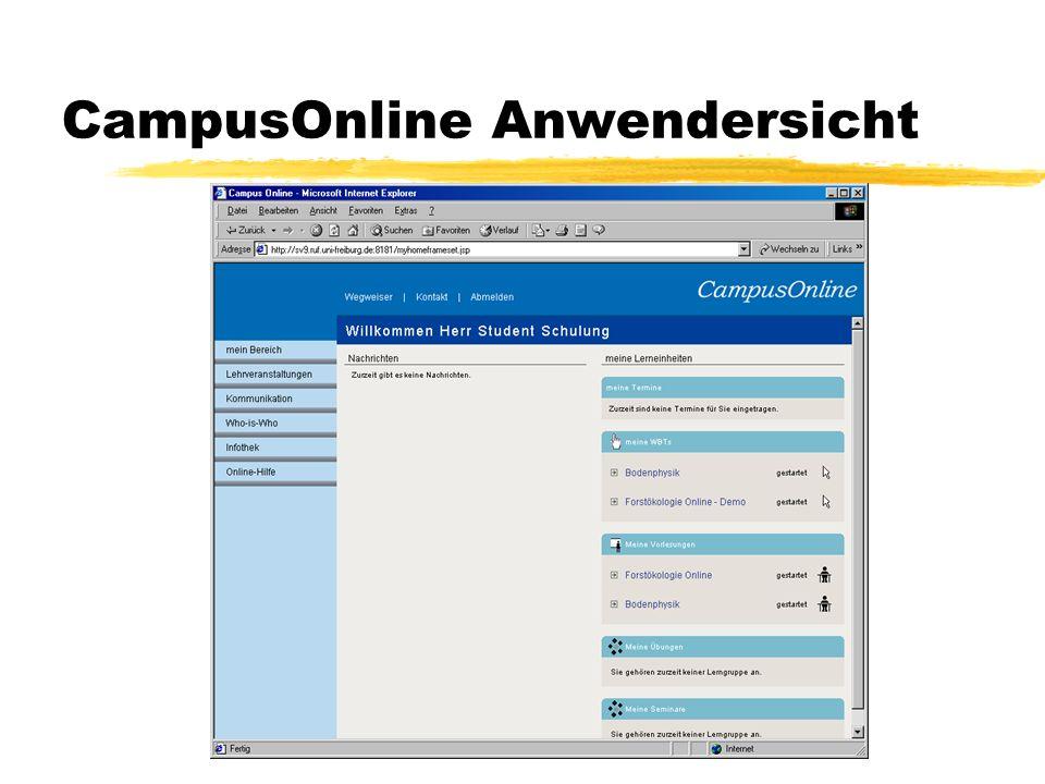 CampusOnline Anwendersicht