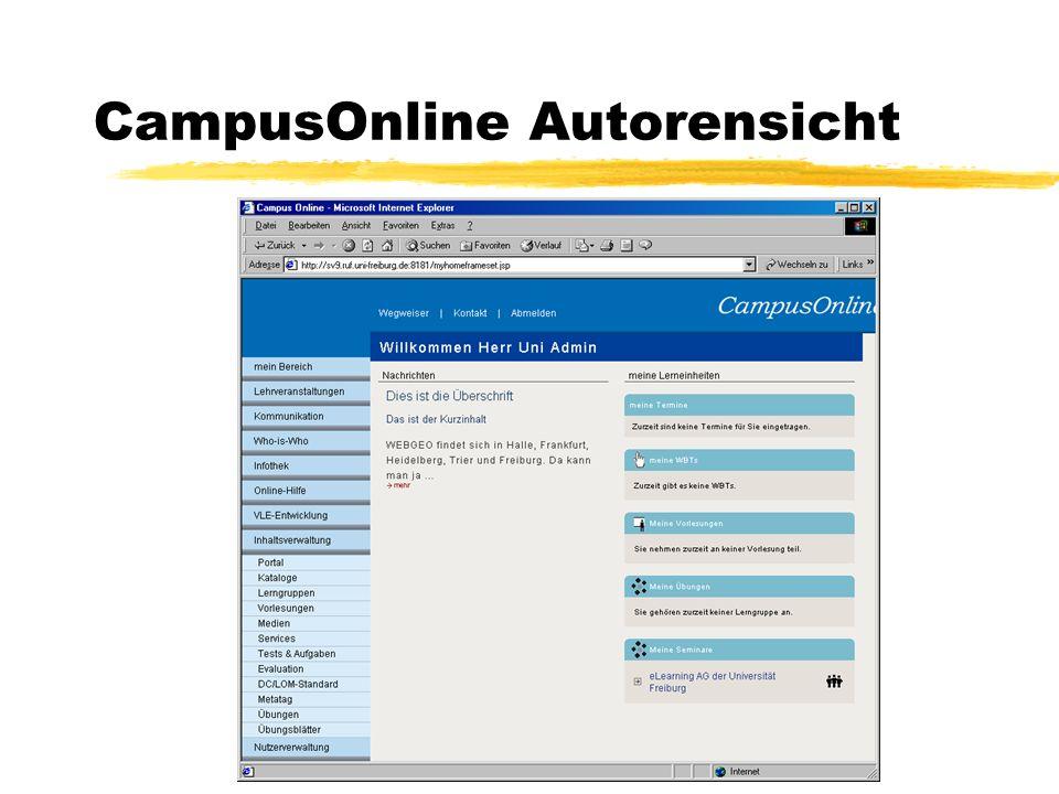 CampusOnline Autorensicht