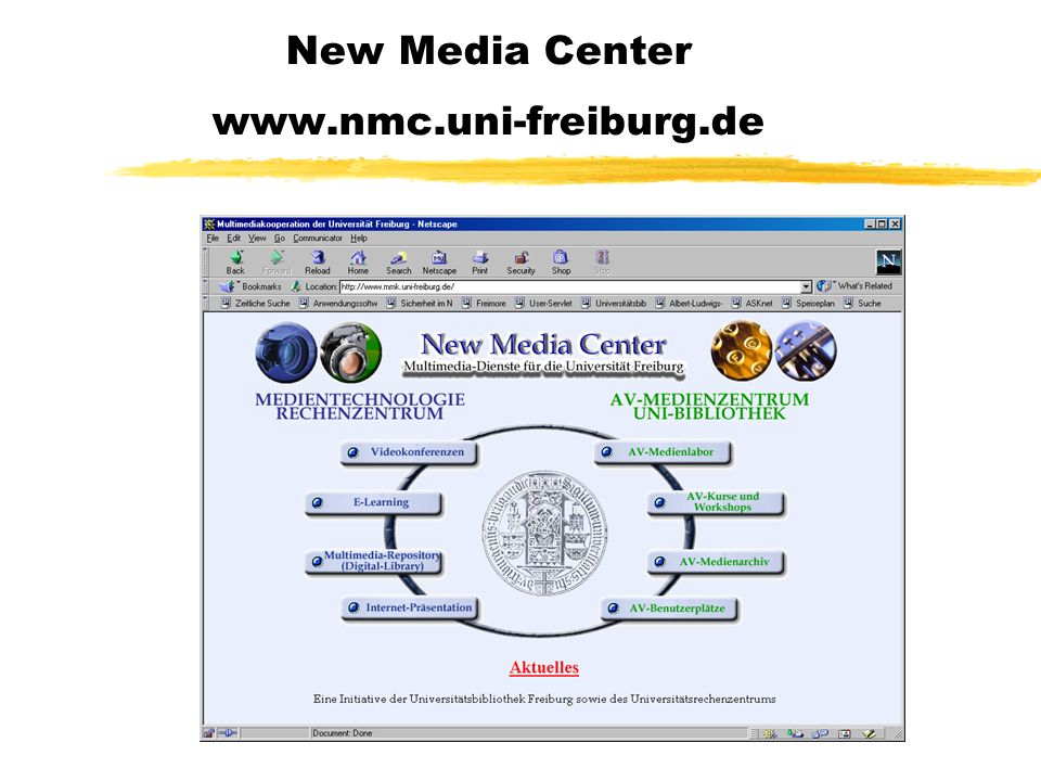 New Media Center www.nmc.uni-freiburg.de