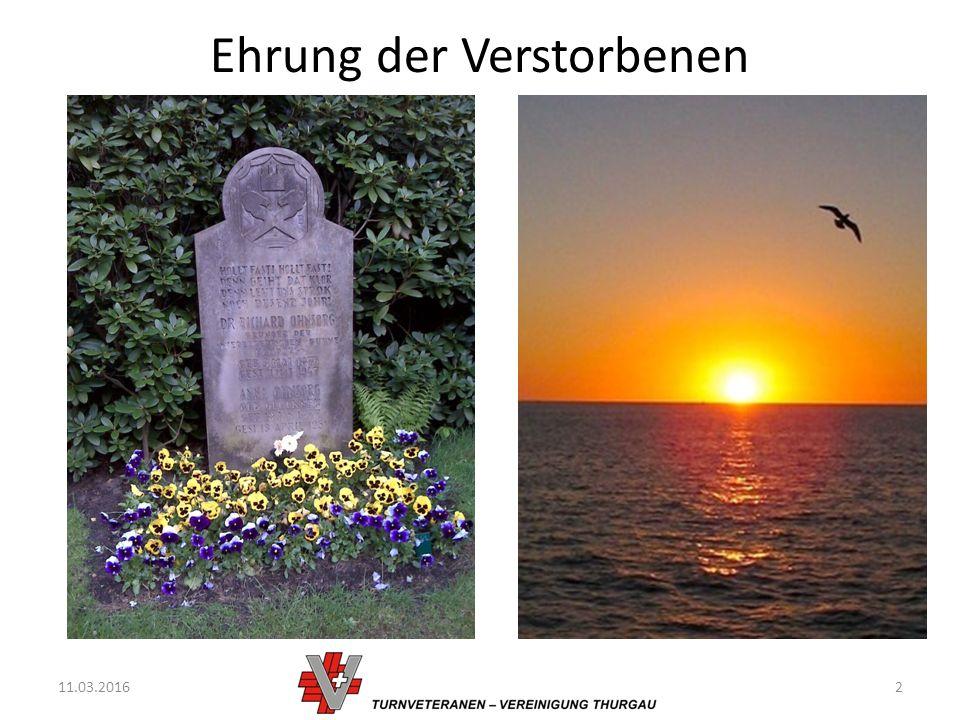 Ehrung der Verstorbenen 11.03.20162