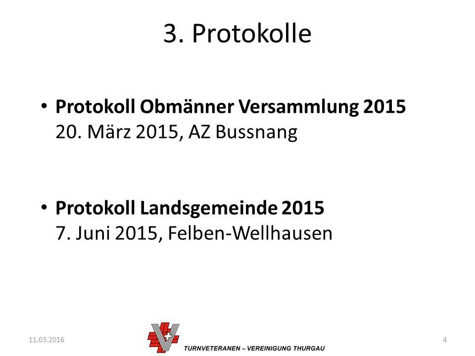 3. Protokolle 11.03.20164 Protokoll Obmänner Versammlung 2015 20.