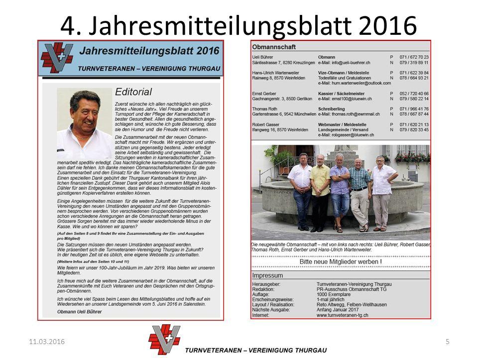 4. Jahresmitteilungsblatt 2016 11.03.20165