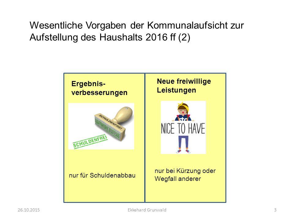 Entwicklung der Fehlbeträge 26.10.20154Ekkehard Grunwald