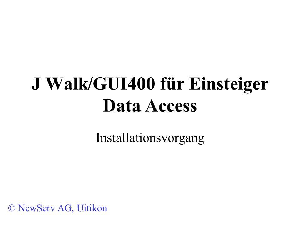 J Walk Installation – Data Access 10.