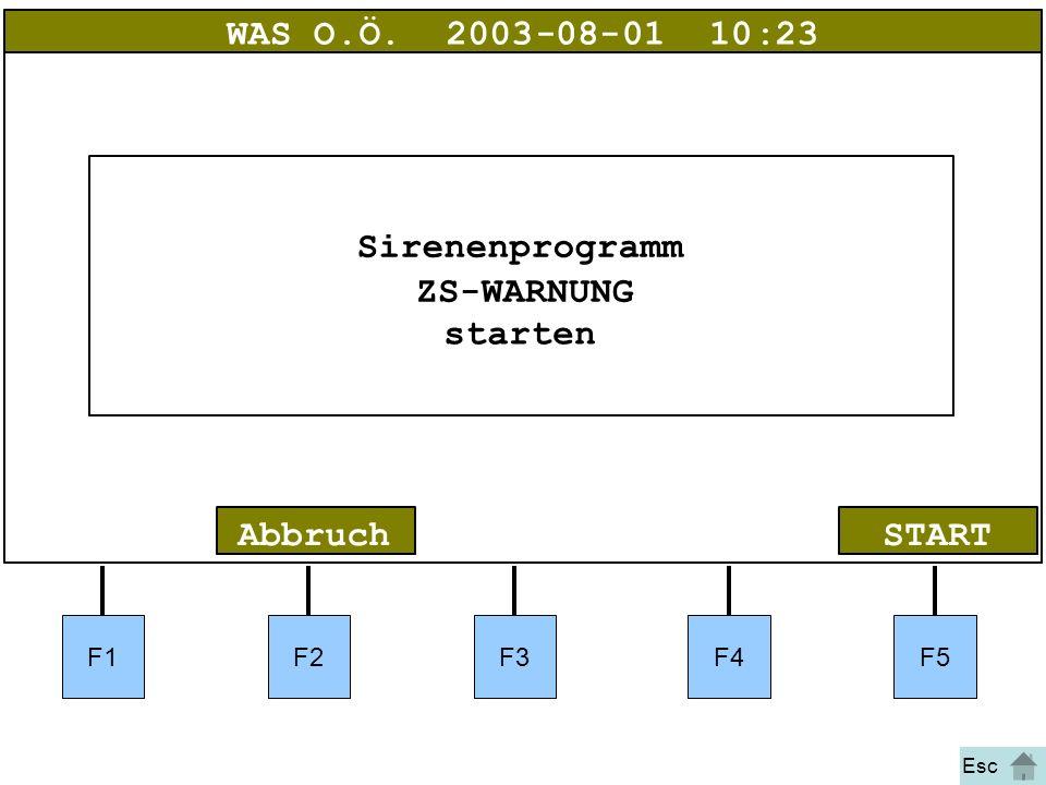 Bild 17 F1F2F3F4F5 STARTAbbruch WAS O.Ö.2003-08-01 10:23 Sirenenprogramm ZS-WARNUNG starten Esc