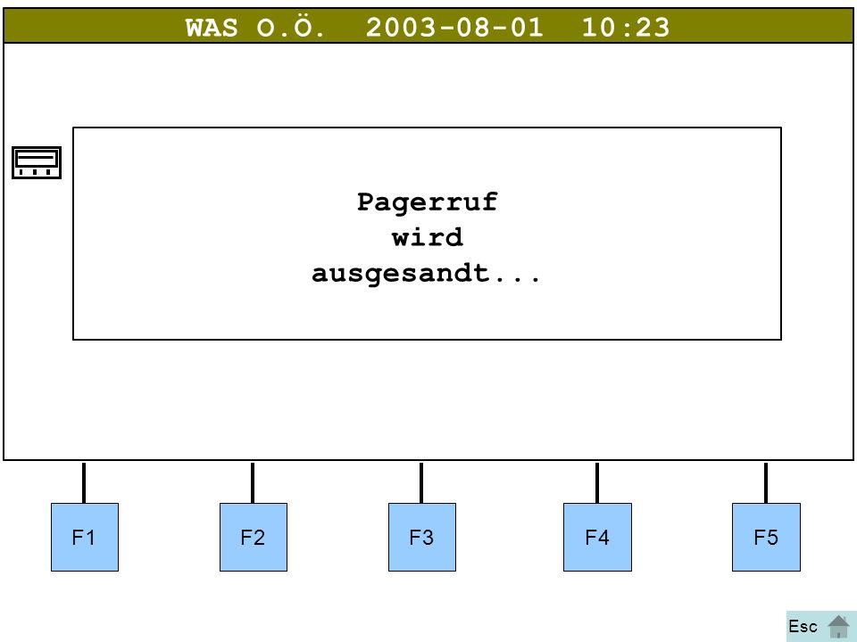 Bild 26 F1F2F3F4F5 WAS O.Ö.2003-08-01 10:23 Pagerruf wird ausgesandt... Esc
