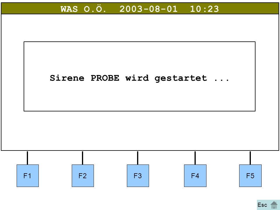 Bild 7a WAS O.Ö.2003-08-01 10:23 Sirene PROBE wird gestartet... Esc F1F2F3F4F5