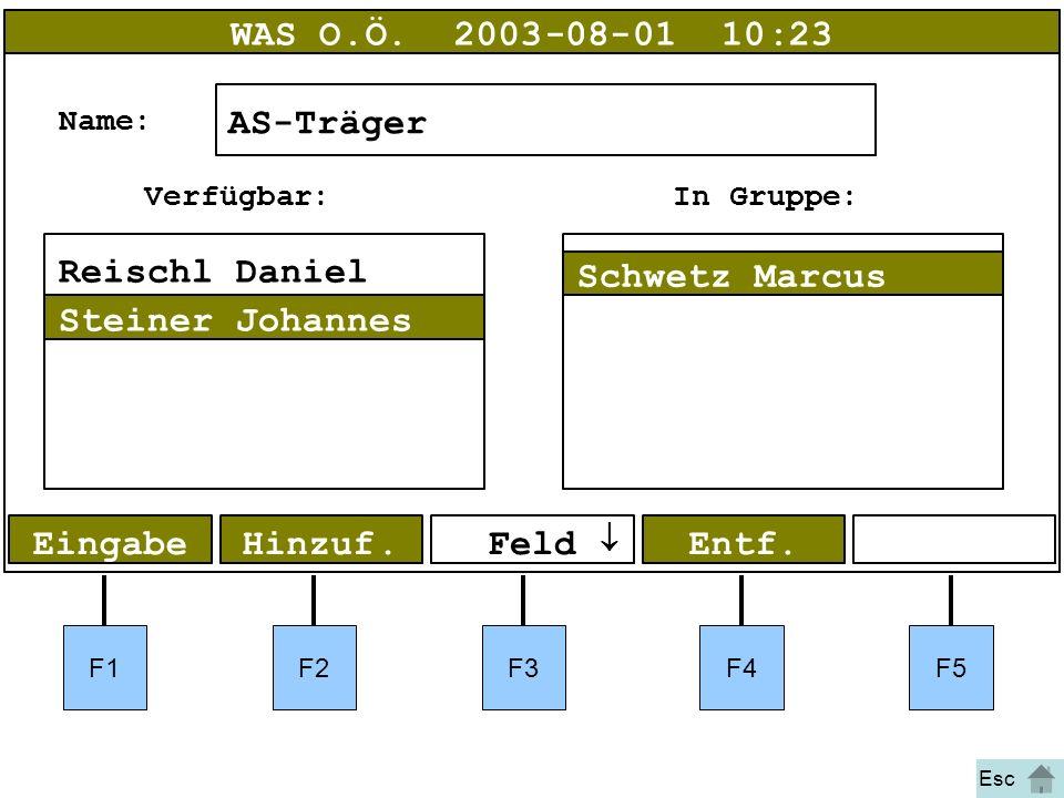 Bild 47 F1F2F3F4F5 EingabeHinzuf. WAS O.Ö.2003-08-01 10:23 AS-Träger Name: Entf.