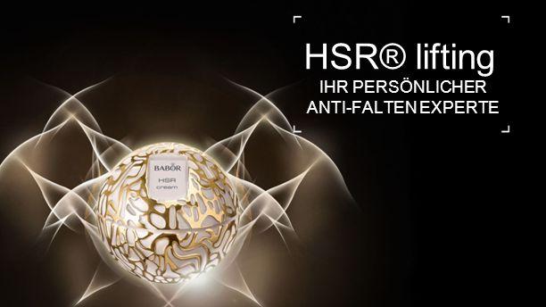 14 HSR® lifting IHR PERSÖNLICHER ANTI-FALTEN EXPERTE