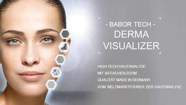 21 - BABOR TECH - DERMA VISUALIZER HIGH-TECH HAUTANALYSE MIT 80-FACHEN ZOOM QUALITÄT MADE IN GERMANY VOM WELTMARKTFÜHRER DER HAUTANALYSE