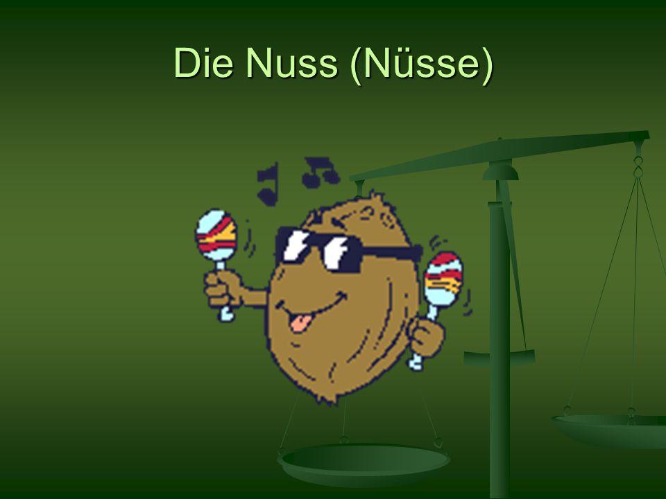 Die Nuss (Nüsse)