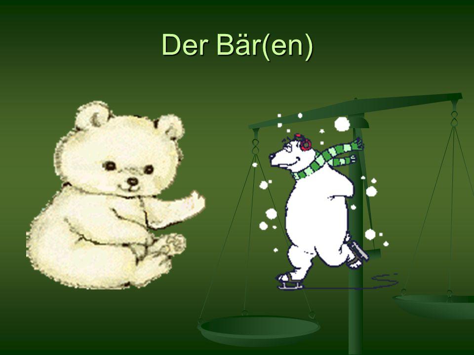 Der Bär(en)