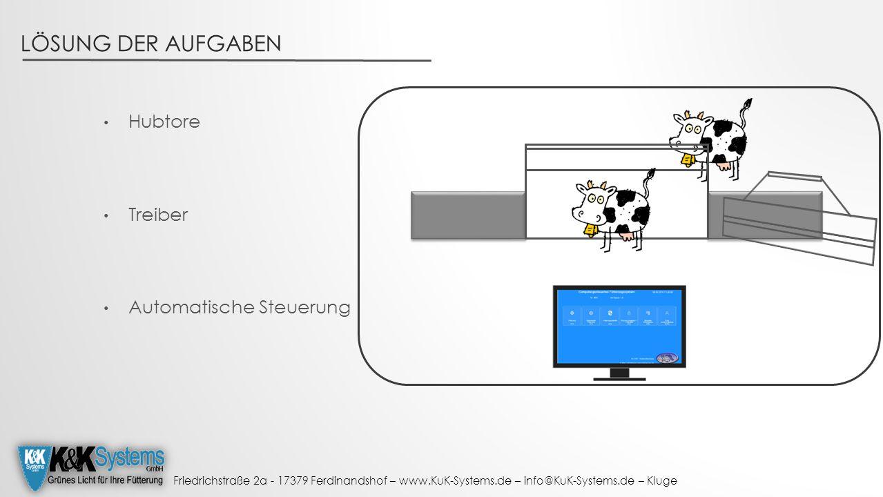 Friedrichstraße 2a - 17379 Ferdinandshof – www.KuK-Systems.de – info@KuK-Systems.de – Kluge LÖSUNG DER AUFGABEN Hubtore Treiber Automatische Steuerung
