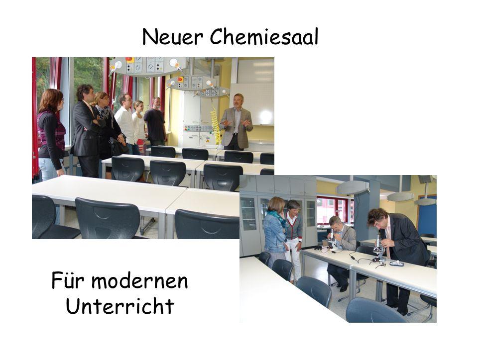 Neuer Chemiesaal Für modernen Unterricht