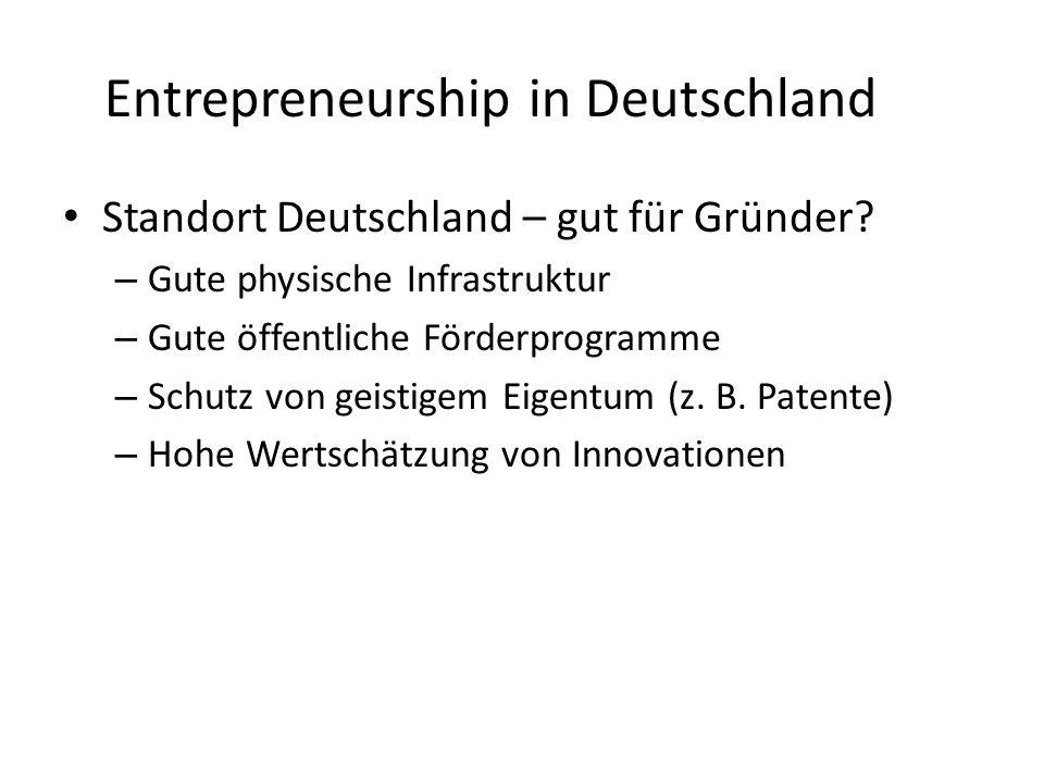 Entrepreneurship in Deutschland Standort Deutschland – gut für Gründer.